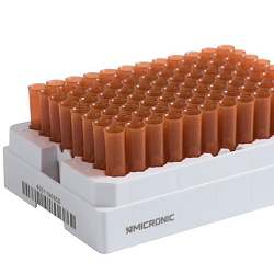 Amber sample tubes from Micronic protect biological samples from photodegradation